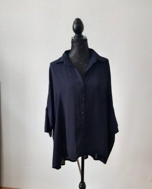 Oversize Bluse in nachtblau
