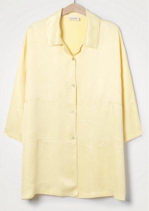 American Vintage Blouse oversized jaune clair viscose