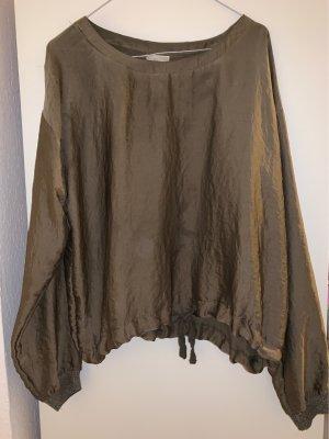 Oversize Bluse mit anpassbarem Bund