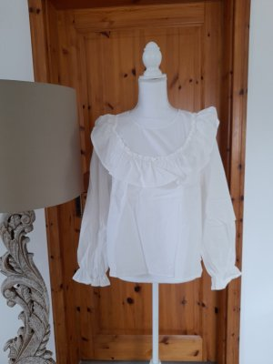 Oversize Bluse mit Volant Kragen H&M Divided Gr. L 100 % Baumwolle