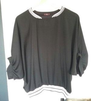 high tech Blouse oversized noir-blanc polyester