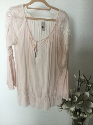 Tredy Blouse oversized beige clair-rosé