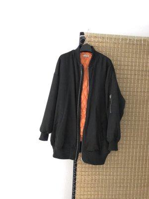 Light Before Dark Blouson aviateur vert foncé-orange fluo polyester