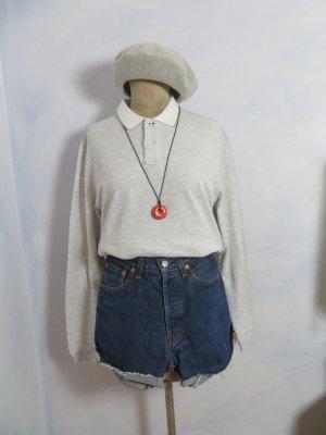 Brunello Cucinelli Polo Shirt light grey-white cotton