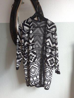 Jean Pascale Wool Coat white-black