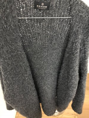 Review Knitted Cardigan dark grey