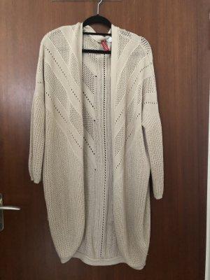 Oversize Cardigan in Creme / 38/M / H&M