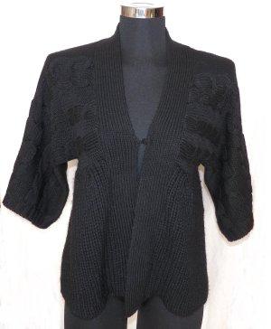 Cardigan a maglia grossa nero