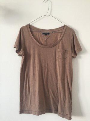 Oversize Damenshirt von Tommy Hilfiger Gr. XS hellbraun