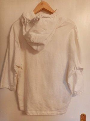 Dolce & Gabbana Sweter oversize biały-czerwony Bawełna