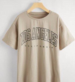 Camisa holgada crema-beige