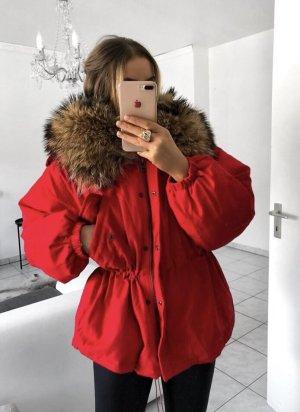 Lavelache Fur Jacket brick red-taupe pelt