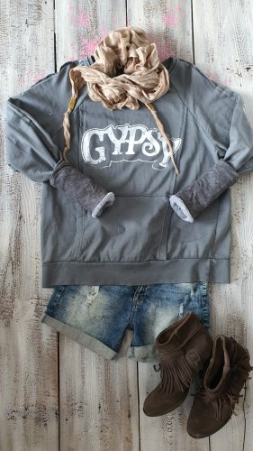 Pull oversize gris coton