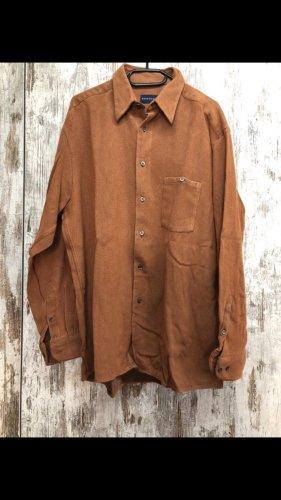 Camicia a maniche lunghe marrone