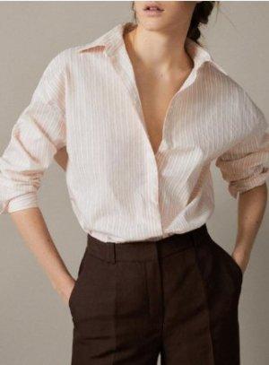 Oversize Hemd-Bluse 36-40