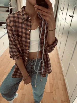 Oversize hemd mit karomuster