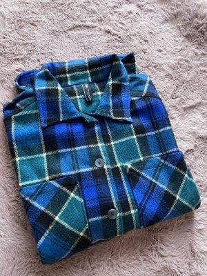Oversize Hemd Überhemd nagelneu XS blau grün