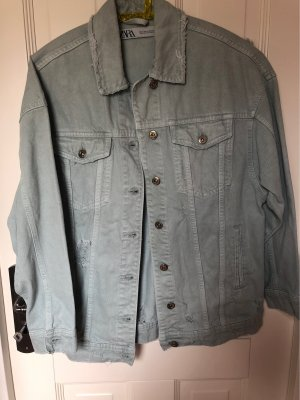 Zara Denim Shirt pale blue-sage green