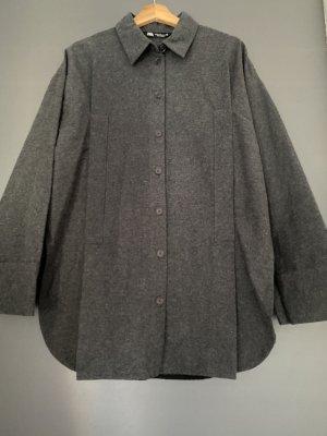 Zara Oversized Blouse anthracite-dark grey