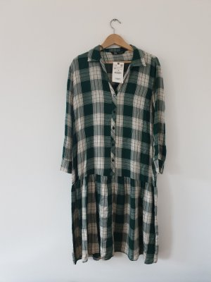 Oversize Hemdblusenkleid mit Karos, Gr. M
