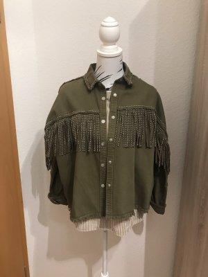 Oversize Hemdjacke Zara
