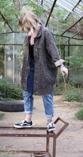 Mochy Spijkerjack zwart-bruin