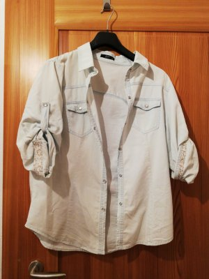 Forever 21 Denim Shirt azure