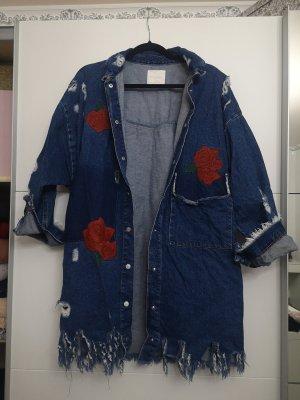 Oversize Jeanshemd mit Stickerei Zara