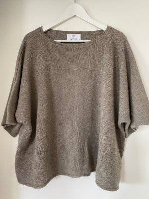 Allude Cashmere Jumper light brown-grey brown cashmere