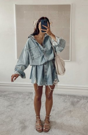 Oversize Kleid aus Baumwolldenim im usedlook