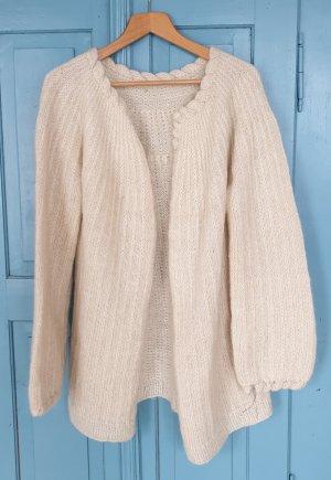 Cardigan cream wool