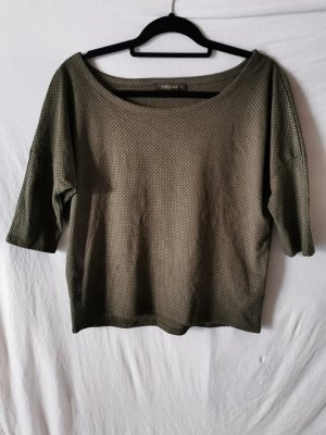 Supertrash Camicia oversize grigio-verde