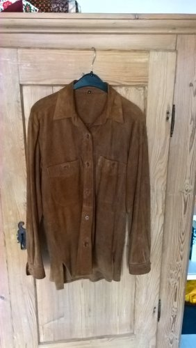 Vintage Skórzana koszula brązowy