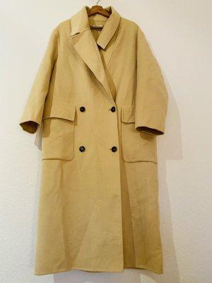 Zara Oversized Coat pale yellow-cream