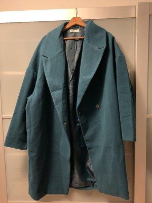 24Colours Manteau mi-saison bleu pétrole