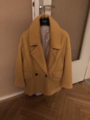 H&M Oversized jas geel-zwart