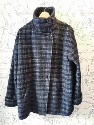 Esprit Oversized jas roodbruin-donkerblauw