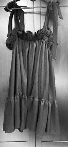 Oversize Minikleid mit Schleifenträger