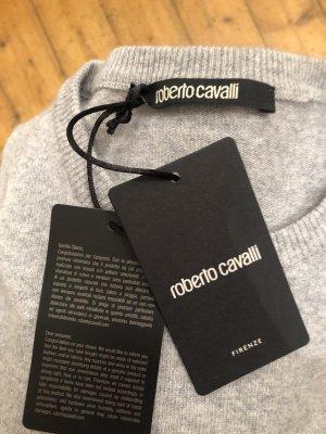 Roberto Cavalli Pullover in cashmere grigio chiaro-argento Cachemire