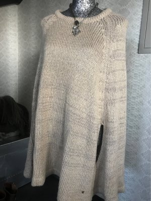 Vivance Knitted Poncho gold-colored-cream polyacrylic