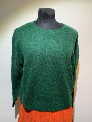 H&M Sweter oversize leśna zieleń Poliakryl
