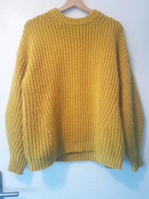 Jake*s Jersey de punto grueso amarillo Lana