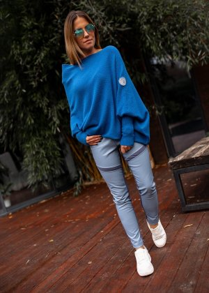 Bastet Sweter oversize chabrowy