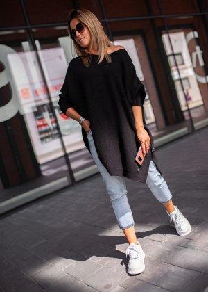 Oversized trui zwart