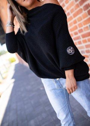 Bastet Sweter oversize czarny