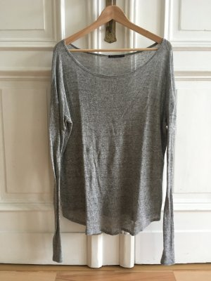 Brandy & Melville Long Sweater silver-colored cotton