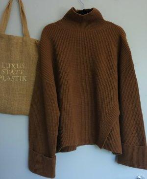 Oversize Pullover, Grobstrick, Turtleneck, weite Ärmel, stylish Knit, Strickpulli