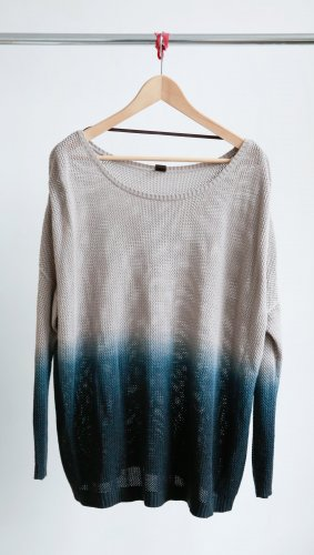 Oversize Pullover im Ombre Look