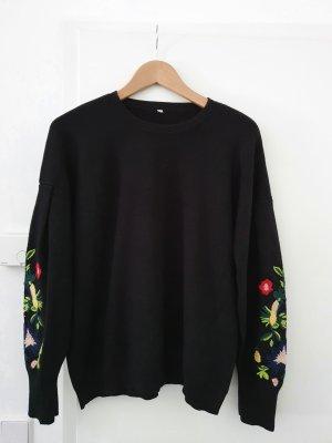 Oversize Pullover mit Stickerei Größe 38