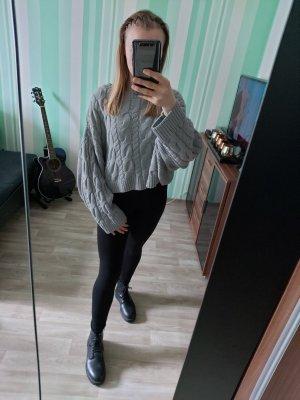 Topshop Oversized Sweater light grey-grey